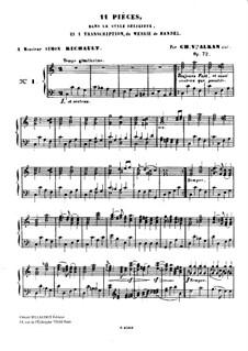 Одиннадцать пьес в религиозном стиле и транскрипция на тему из 'Мeссии' Генделя, Op.72: Пьеса No.1 by Шарль Валантен Алькан