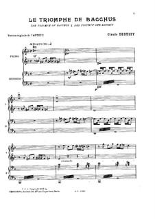 Триумф Вакха, L.38: Аранжировка для фортепиано в 4 руки by Клод Дебюсси
