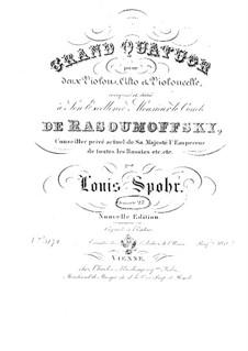Струнный квартет No.6 соль минор, Op.27: Струнный квартет No.6 соль минор by Луи Шпор