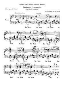 Три пьесы для фортепиано, Op.25: No.3 Levantine Serenade by Ахиллес Алфераки