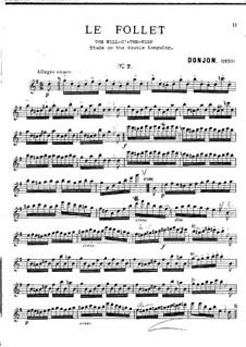 Восемь салонных этюдов для флейты: No.7 Le Follet by Johannes Donjon