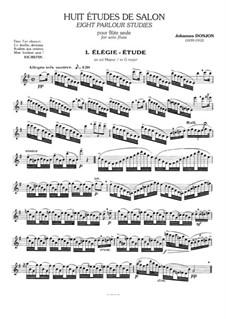 Восемь салонных этюдов для флейты: Сборник by Johannes Donjon