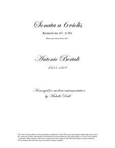 Sonata a 6 violis: Sonata a 6 violis by Антонио Бертали