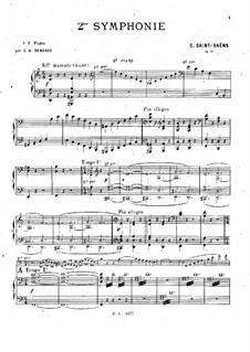 Симфония No.2 ля минор, Op.55: Для двух фортепиано в четыре руки – Партия by Камиль Сен-Санс