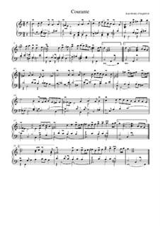 Сюита соль мажор: Куранта и дубль by Жан-Анри д'Англебер