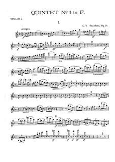Квинтет No.1 фа мажор для струнных, Op.85: Партии by Чарлз Виллиерс Стэнфорд