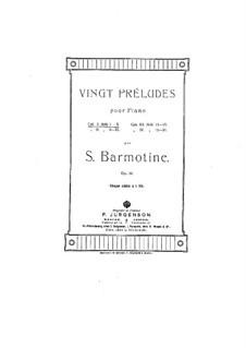 Двадцать прелюдий для фортепиано, Op.12: Двадцать прелюдий для фортепиано by Семён Бармотин