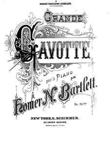Гавот ре мажор, Op.45: Гавот ре мажор by Гомер Ньютон Бартлетт