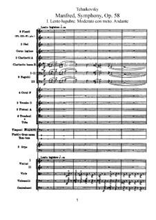 Симфония 'Манфред', TH 28 Op.58: Партитура by Петр Чайковский