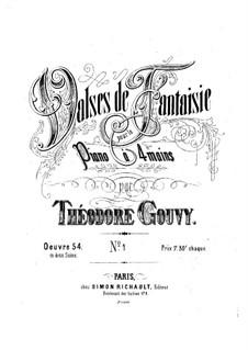 Valses de fantaisie for Piano Four Hands, Op.54 No.1: Valses de fantaisie for Piano Four Hands by Луи Теодор Гуви