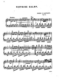 Victoire galop, Op.24: Victoire galop by Гомер Ньютон Бартлетт