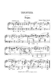 Фрагменты: Вариации No.1-5, для фортепиано by Эдуард Элгар