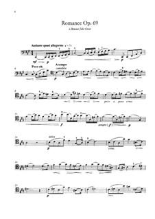 Романс для виолончели и фортепиано ля мажор, Op.69: Сольная партия by Габриэль Форе
