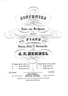 Симфония No.3 'Героическая', Op.55: Версия для фортепиано by Людвиг ван Бетховен