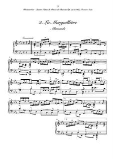 Сюита No.1 для клавесина: No.2 La marguillière by Жозеф Бодин де Буамортье