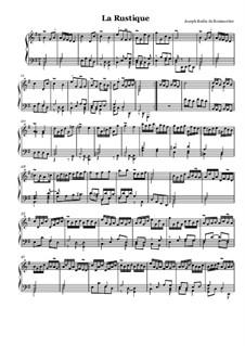 Сюита No.2 для клавесина: No.4 La rustique by Жозеф Бодин де Буамортье