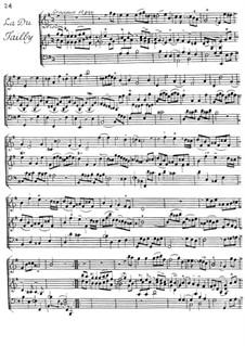 La du Tailly for Violin and Harpsichord: La du Tailly for Violin and Harpsichord by Jacques Duphly