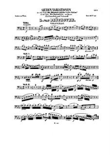 Семь вариаций на тему 'Bei Männern welche Liebe fühlen' Моцарта, WoO 46: Сольная партия by Людвиг ван Бетховен