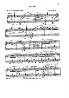 Вальс ми-бемоль мажор, Op.83: Для фортепиано by Огюст Дюран