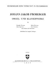 Полное собрание сочинений для клавишного инструмента: Книга III by Иоганн Якоб Фробергер