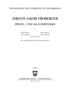 Полное собрание сочинений для клавишного инструмента: Книга I by Иоганн Якоб Фробергер