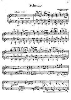 Скерцо ля-бемоль мажор: Для фортепиано by Александр Бородин