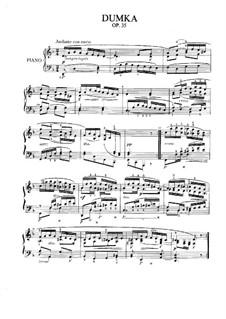 Думка ре минор, B.64 Op.35: Для фортепиано by Антонин Дворжак