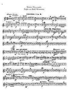 Ночь на лысой горе: Партии труб by Модест Мусоргский