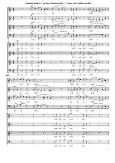 Fest- und Gedenksprüche, Op.109: Nr.1 Unsere Väter hofften auf dich by Иоганнес Брамс