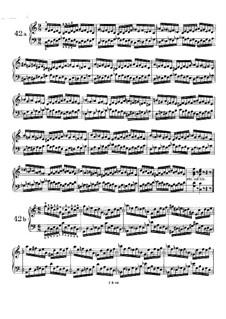 Пятьдесят однo упражнение для фортепиано, WoO 6: Упражнения No.42-51 by Иоганнес Брамс