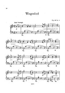 No.4 Колыбельная: Для фортепиано (фа мажор) by Иоганнес Брамс