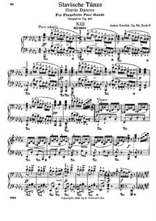 Тетрадь II: Для фортепиано в 4 руки by Антонин Дворжак