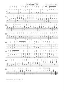 Laudate Dio, f.55v: Laudate Dio by Joan Ambrosio Dalza