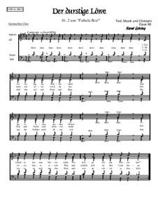 Nr.2: Der durstige Löwe, Op.96: Nr.2: Der durstige Löwe by Bernd Gehring