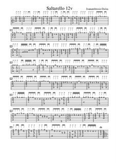 Сальтарелло для лютни, f.12v: Сальтарелло для лютни by Joan Ambrosio Dalza