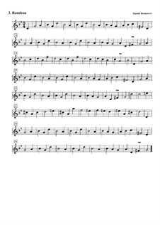 Сюита No.5 соль минор: No.3 Рондо by Daniel Demoivre
