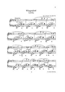 Колыбельная, Op.12 No.1: Для фортепиано by Wesley Octavius Forsyth