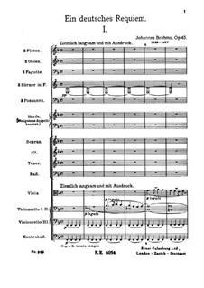 Немецкий реквием, Op.45: Часть I by Иоганнес Брамс