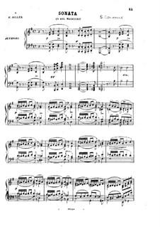 Соната для фортепиано соль мажор, Op.54: Часть I by Стефано Голинелли