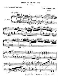 Фортепианная соната ля-бемоль мажор, Op.177: Части I-II by Фридрих Калькбреннер