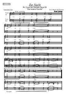 Die heitere Familie, Op.59: Nr.5 Zur Nacht by Bernd Gehring