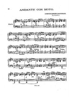 Шесть детских пьес, Op.72: Пьеса No.4 by Феликс Мендельсон-Бартольди