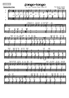 Unernste Tänze, Op.103: Nr.1: Fango-Tango by Bernd Gehring