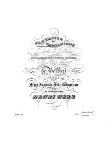 Фантазия и вариации на тему Беллини, Op.90: Для фортепиано by Анри Герц