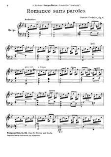 Романс без слов, Op.6: Романс без слов by Gabriel Verdalle