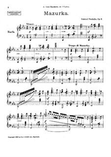Мазурка, Op.9: Мазурка by Gabriel Verdalle