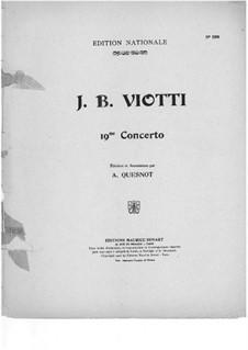 Концерт для скрипки с оркестром No.19 соль минор: Версия для скрипки и фортепиано by Джованни Баттиста Виотти