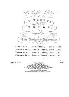 Шесть струнных трио, WIII 1-6 Op.2: Шесть струнных трио by Джованни Баттиста Виотти