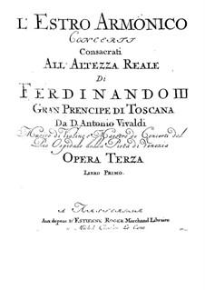 Двенадцать концертов: No.1-6 – Партии by Антонио Вивальди