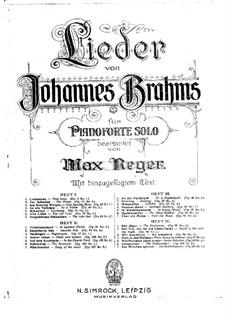 Избранные песни: Тетрадь I, для фортепиано by Иоганнес Брамс